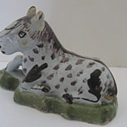 Tin-Glazed European Faience Delft Earthenware Miniature Horse