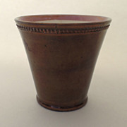 English Copper Luster Beaker Cup c1810