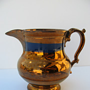English Copper Luster Pitcher c 1825