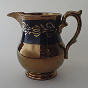 English Copper Luster Pitcher 4 1/2""