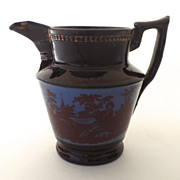 English Copper Luster Pitcher 4 1/4""