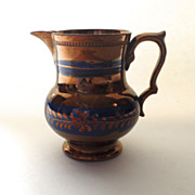 English Copper Luster Pitcher 5""