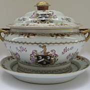 Sampson Large Covered Tureen with Under-plate Armorial