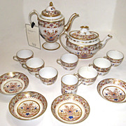 Early Spode Partial Tea Set Staple Repairs 18th century