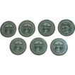 Set of 8 Nanking Chinese Export Plates Green