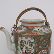 Chinese Export Rose Medallion Tea Pot