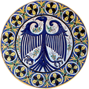 Italian Majolica Charger Eagle Motif