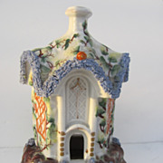 Staffordshire Pastille Burner Church c 1840