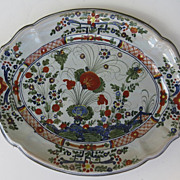 Italian Faience Large Oval Platter by Cantagalli in the Garofano Pattern