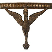 French Carved Gilt Console Table with Spread Winged Bird Support