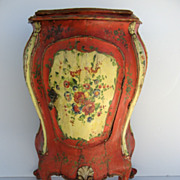 Venetian Small Bombe One Door Side Cabinet 19th Century