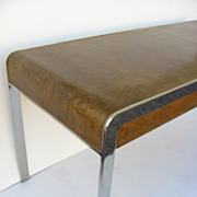 Mid Century Chrome and Bird's Eye Maple Desk