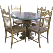 Pedestal Table &  Four Chairs