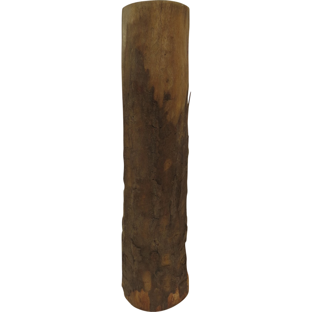 Italian Hollow Out Log For Drying Wood Umbrella Stand From