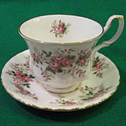 """Lavender Rose"" Teacup and Saucer Set by Royal Albert"