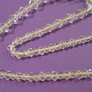 Vintage Crystal Bi-Cone Beaded Choker with Silver Clasp