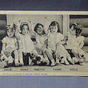 Dionne Quintuplets Post Card