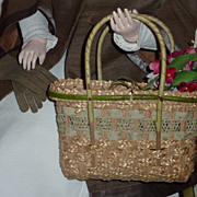 Edwardian Basket & Gloves for French Fashion or China