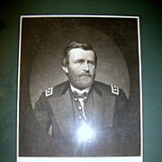REDUCED 1860s.Framed Steel Engraving of Ulysses S.Grant by John Sartain.
