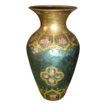 Vintage Japan Made Enamel Cloisonne Brass Vase
