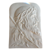 Vintage Ecce Homo White Porcelain Wall Hang Plaque Christ.
