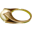 Vintage 10k.Gold Filed Faux Pearl Woman Ring.