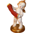 Vintage Japan Made Beautifully Gold Hand Painted Music Player Angel Figurine