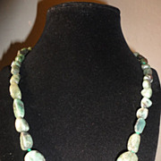 SALE Irresistible Stunning Raw Emerald Necklace (200CTW).