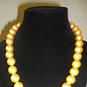 "REDUCED Flawless 18"" Australian Pacific Golden 12mm. Pearl Necklace"