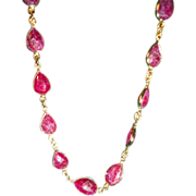 SALE Lovely Ravishing Ruby Drop Necklace 20 CTW