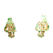 Stunning Shiny Vintage Peridot Crystals Clip-On Earrings