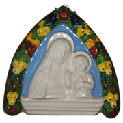 SALE Della Robbia Madonna and the Child Ceramic Wall  Plaque 106/220