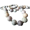 Vintage Japanese Pastel Colors Ceramic Necklace.