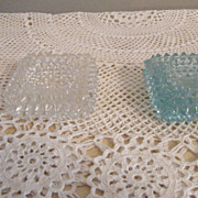 Cut Glass Antique Open Salts or Ash Trays Trinket holders