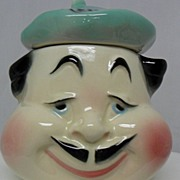 French Chef Relish Condiment Jar-Anthropomorphic