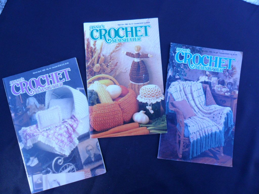 Three Annie's Crochet Newsletters