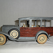 Vintage Hubley Model A Station Wagon Toy