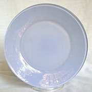 "Anchor Hocking Rainbow Pastel Blue 9 1/8"" Plate"
