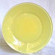 "Anchor Hocking Rainbow Pastel Yellow 9 1/8"" Plate"