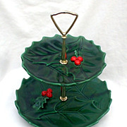 Lefton Green Holly Tidbit Server