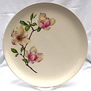 Crooksville Southern Bell Belle Iva Lure Dinner Plates Flowers Magnolias Purple