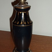 Kralik glass Black vase lamp