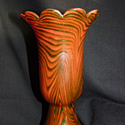 Rindskopf Aventurine Floriform Glass vase Red to green.