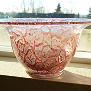 Raspberry Schaumglas (foam glass) Glass bowl vase