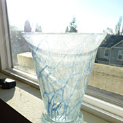 Schaumglas (Foam glass) vase Blue
