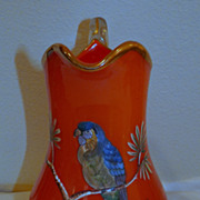 Tango Glass parrot pitcher, jug, vase Orange