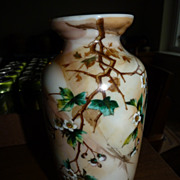 Harrach Marbled Cherry blossom vase Marked