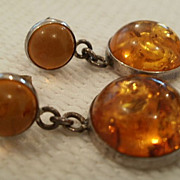 REDUCED Amber Drop earrings Pierced