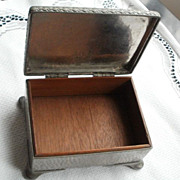 SALE Box by Abbey Pewter, trademark of Osborne & Co., Sheffield, England
