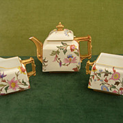 Victorian Porcelain Royal Worcester Tea Set